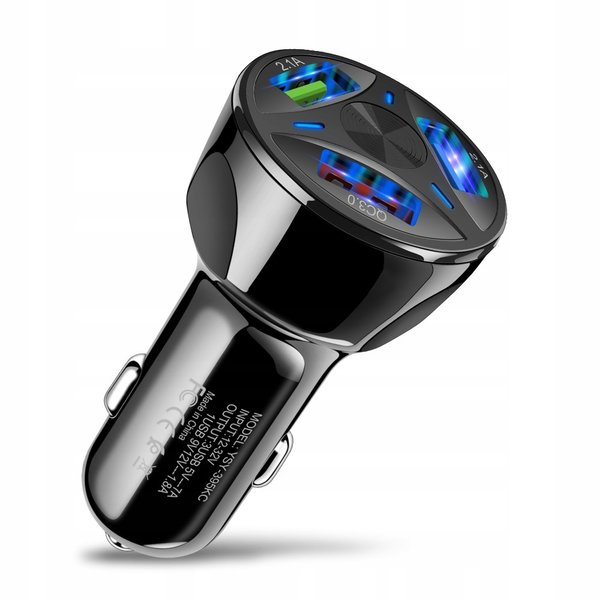 KFZ Ladegerät 3 Fach Auto USB Schnellladeadapter Car Quick ...