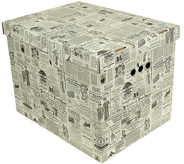 aufbewahrungsbox deckel deko karton pappe xxl a4. Black Bedroom Furniture Sets. Home Design Ideas